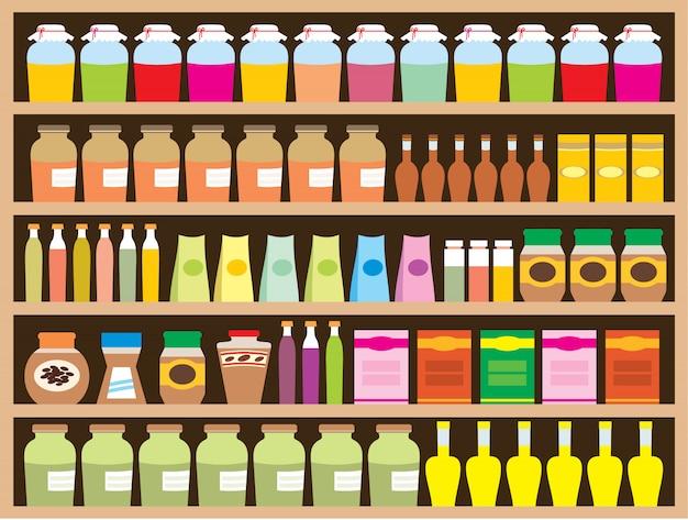 Полки с продуктами