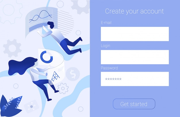 Registration form create account promotion banner