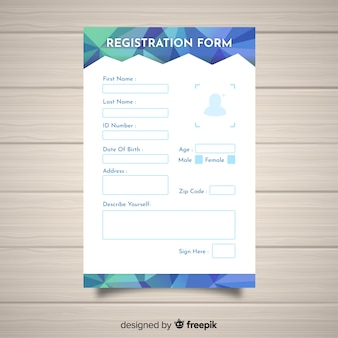 Registration form