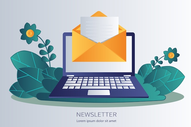 購読者に電子メールで定期的に配信されるニュース出版物