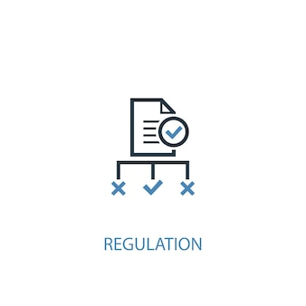 Regulation concept 2 colored icon. simple blue element illustration. regulation concept symbol design. can be used for web and mobile ui/ux