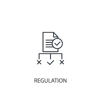 Regulation concept line icon. simple element illustration. regulation concept outline symbol design. can be used for web and mobile ui/ux