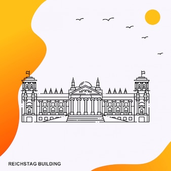 Reichstag building poster template