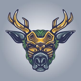Reindeer artwork illustration