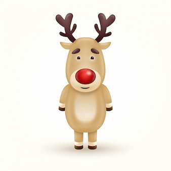 Reindeer character illustration isolated on white background