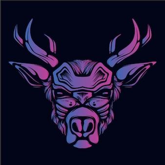 Reindeer design artwork illustration