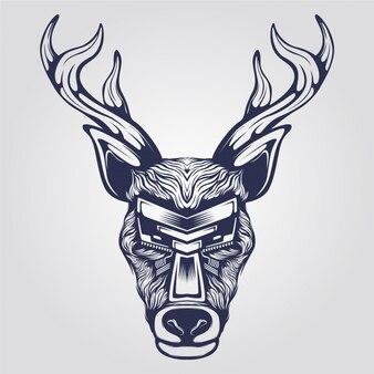 Reindeer line art