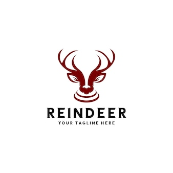 The reindeer logo ready to use