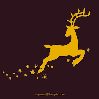 Reindeer silhouette vector