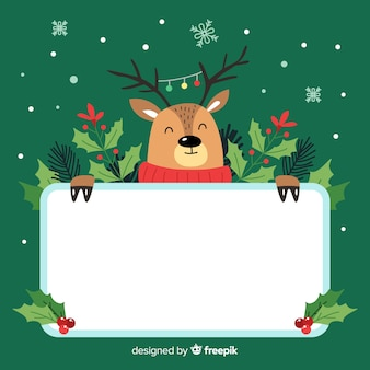 Reindeer with a board