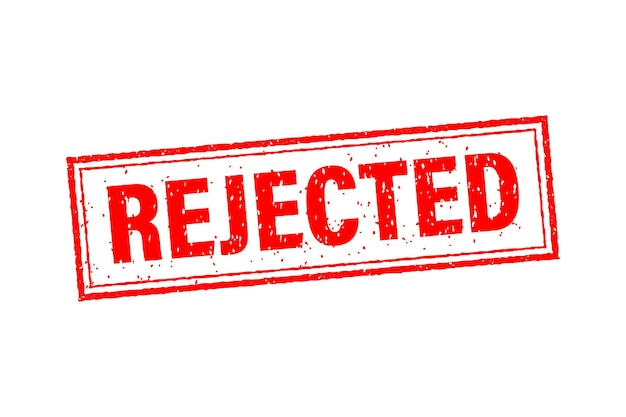 Rejected for banner design