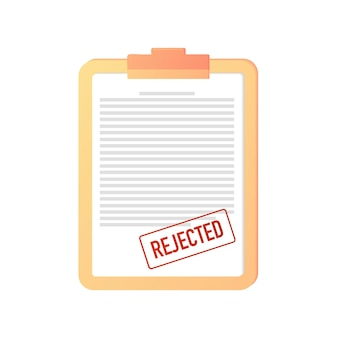 Rejected cancellation of a document contract certificate web banner online rejectionincorrect