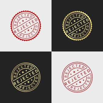 Rejected stamp vector template