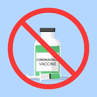 Rejection of the coronavirus vaccine flat