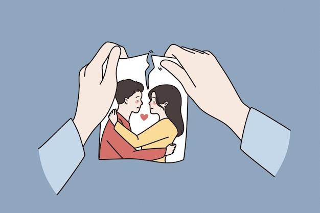관계 위기 헤어짐 개념