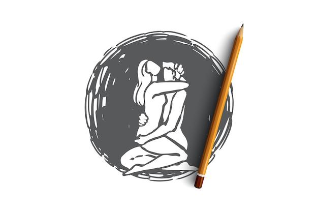 Иллюстрация отношений в рисованной