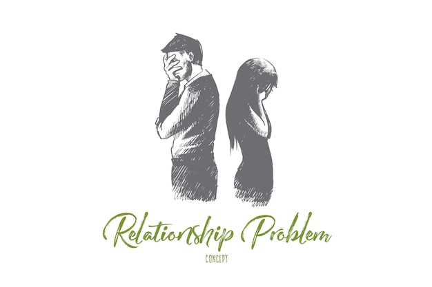 Иллюстрация концепции проблемы отношений