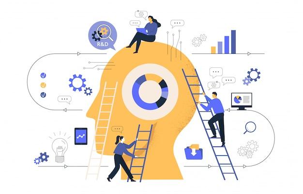 ビジネスグラフィックスに関連して、同社はアイデアの共同検索に従事しています