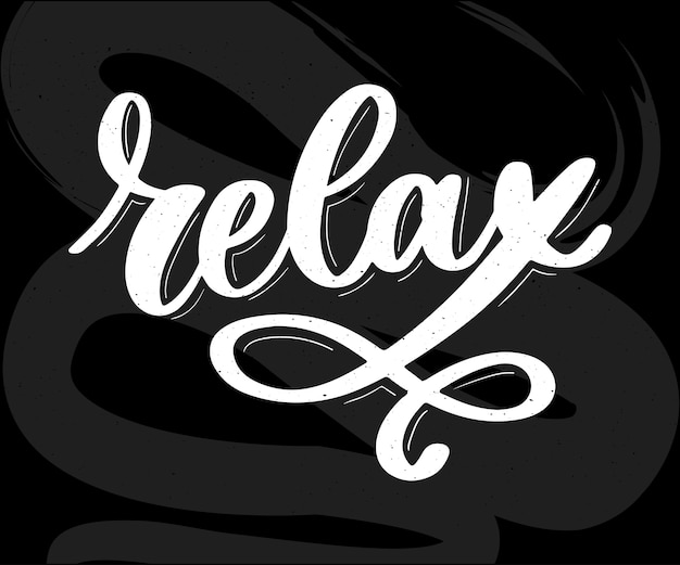 Relax calligraphy