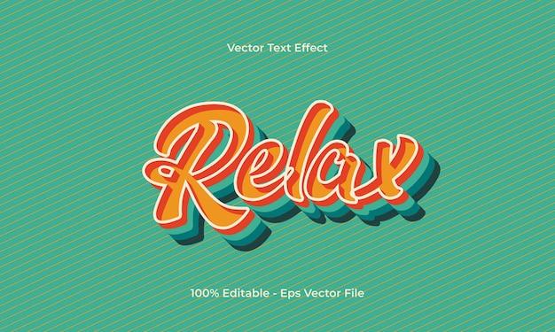 Relax editable 3d text effect