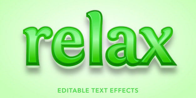 Relax editable text effects