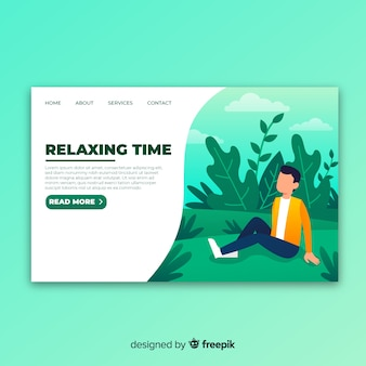 Relax landing page