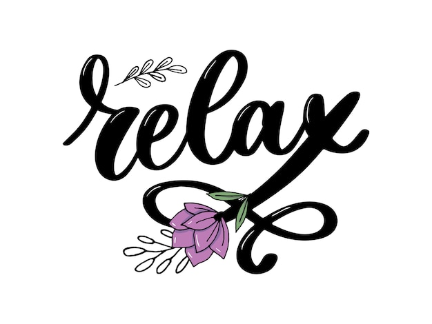 Relax lettering