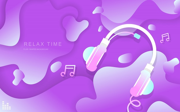 Relax time fluid shapes abstract background