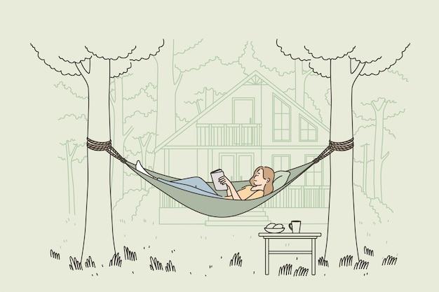 휴식 여름 야외 레저 개념