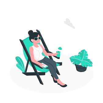 Relaxing concept illustration