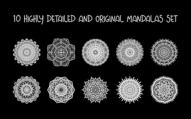Relaxing mandalas set