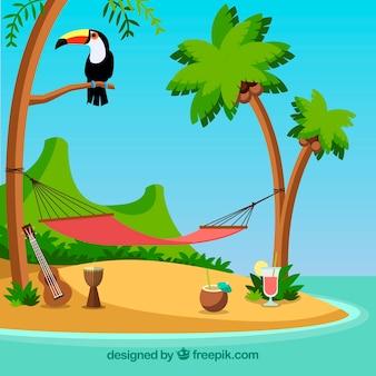 Расслабляющее место на острове