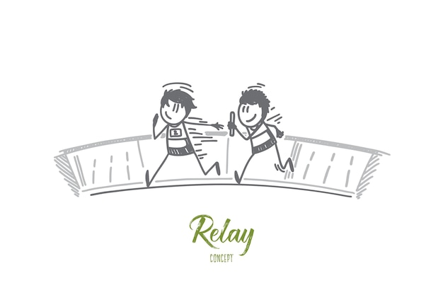 Relay concept illustration
