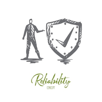 Reliability illustration in hand drawn