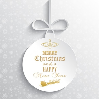 Relief white christmas ball background