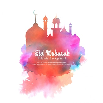 Religious eid mubarak elegant colorful