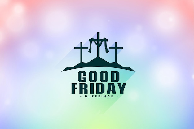 Religious good friday greeting card with crosses