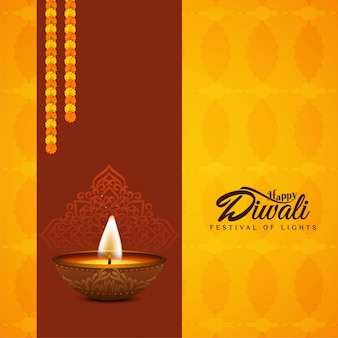 Religious happy diwali bright background design