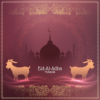 Religious islamic eid-al-adha mubarak background design
