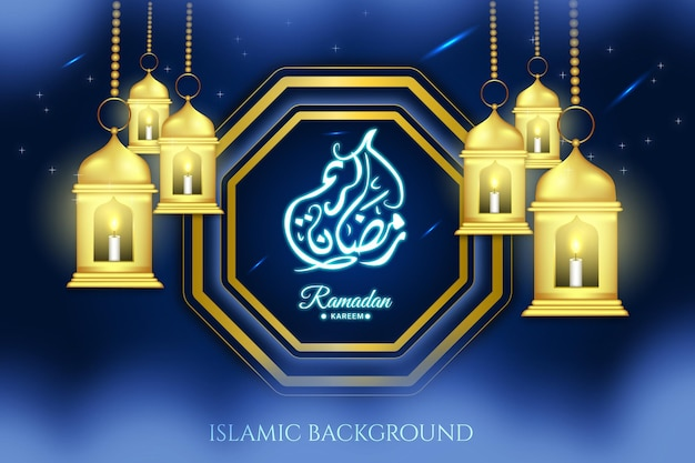 Religious islamic islam background arabic ramadan month design religion vector black