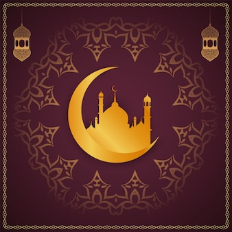 Религиозный рамадан карим декоративный фон
