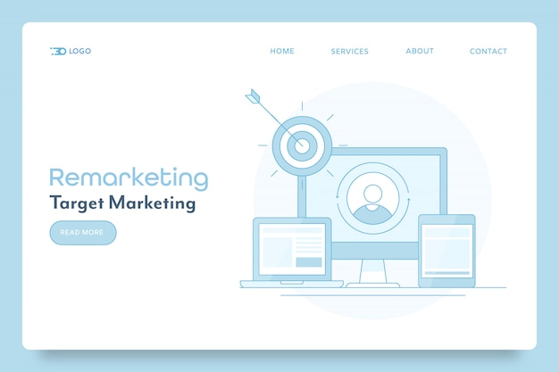 Remarketing strategy for business campaign banner