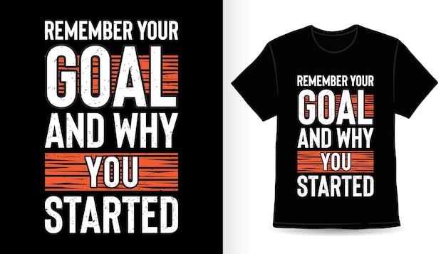 Вспомните свою цель и почему вы начали типографский дизайн футболки с принтом