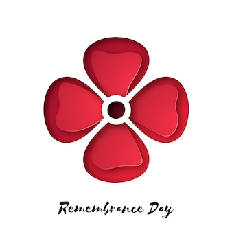 Remembrance day also known as poppy day.