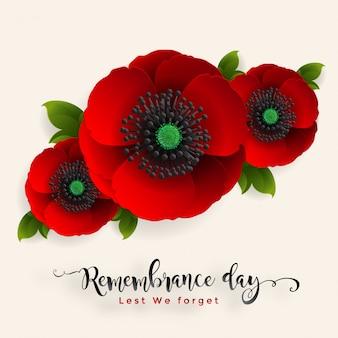 忘れないために記念日。紙で現実的な赤いケシの花は、背景にアートとクラフトスタイルをカットしました。