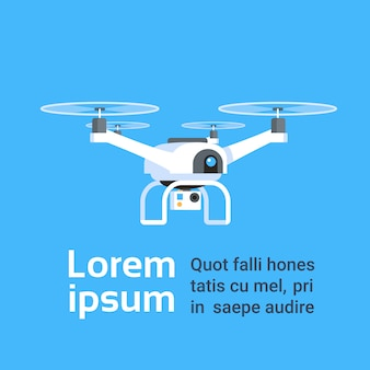 Remote aerial drone with camera taking photography or video recording