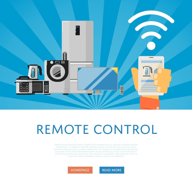 Remote control for household appliances
