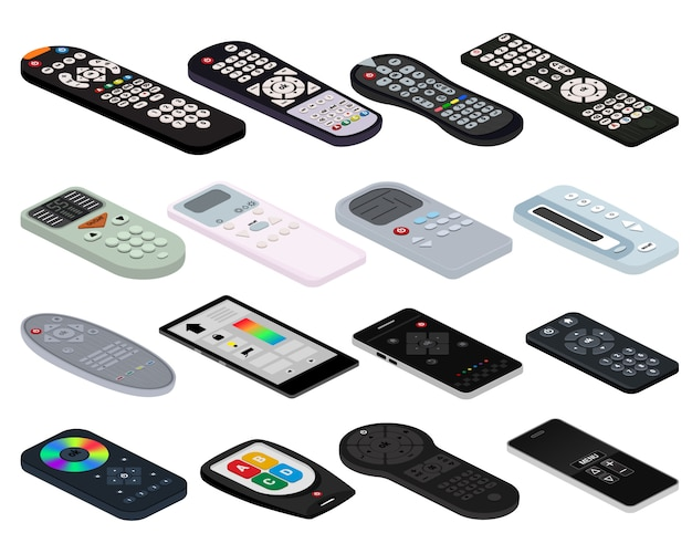 Remote control tv vector remoted controller television channel technology media entertainment equipment digital device control-panel to watch video