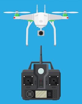 リモート制御の空中ドローン。