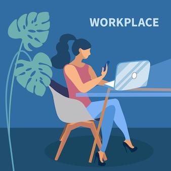 Remote job vector illustration